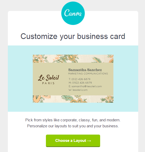 Canva clean design call to action