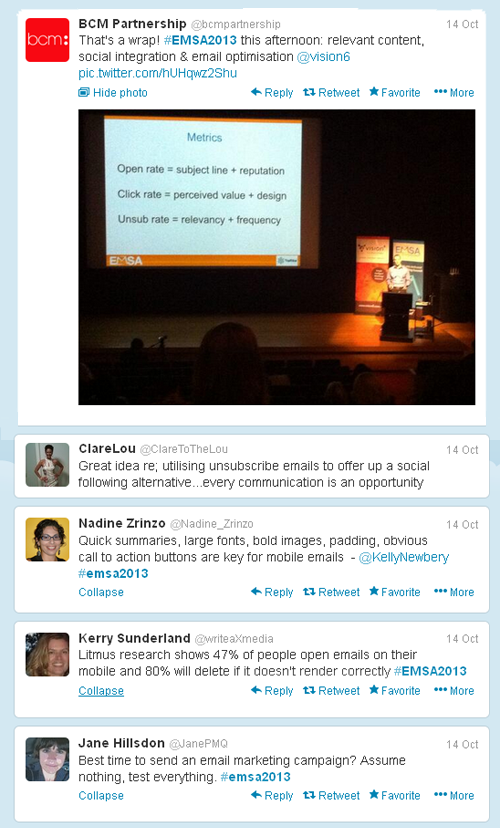 Top tweets from EMSA