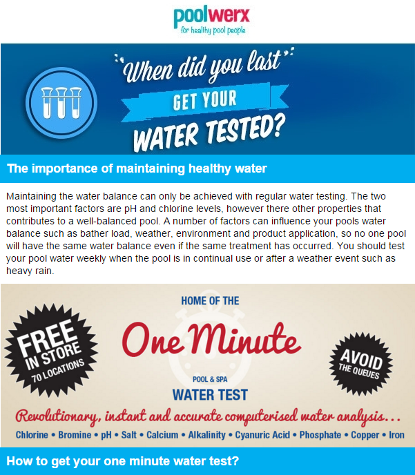 WaterTest reminder