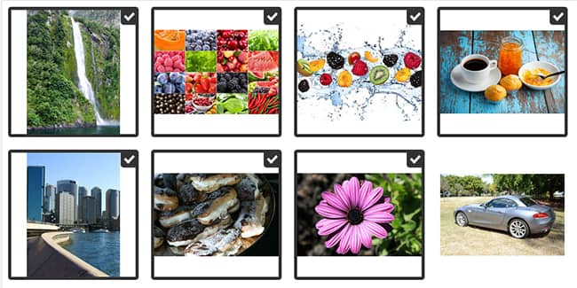 Select multiple images