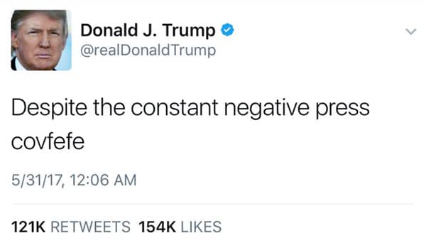 proofreading tips : Mistweet Covfefe