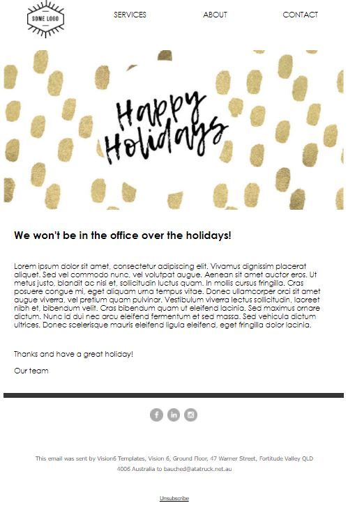 holiday hours template free