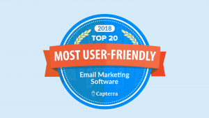 Top 20 email marketing software badge Capterra