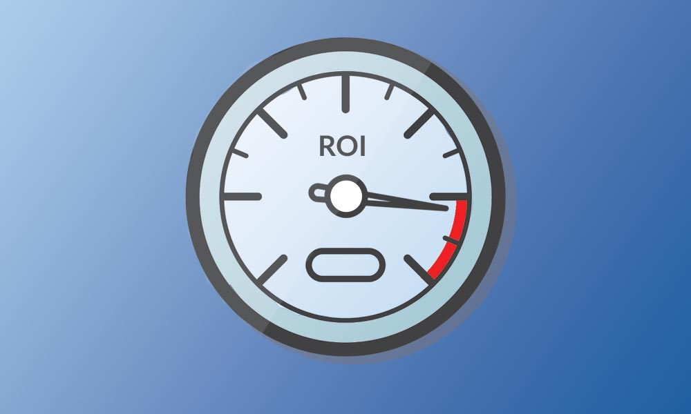 Automotive Marketing ROI Speedometer