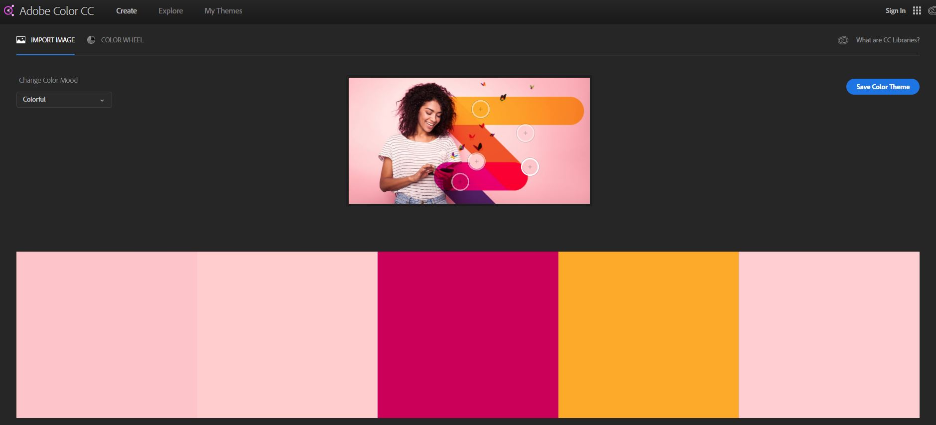 Free image editing software adobe color wheel CC