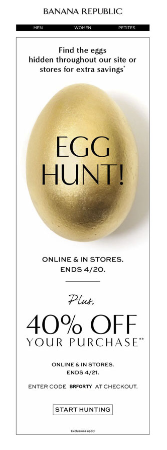 Banana Republic Easter Marketing Campaigns
