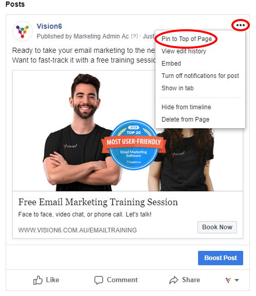 Free Facebook Lead Generation - Post Pinning