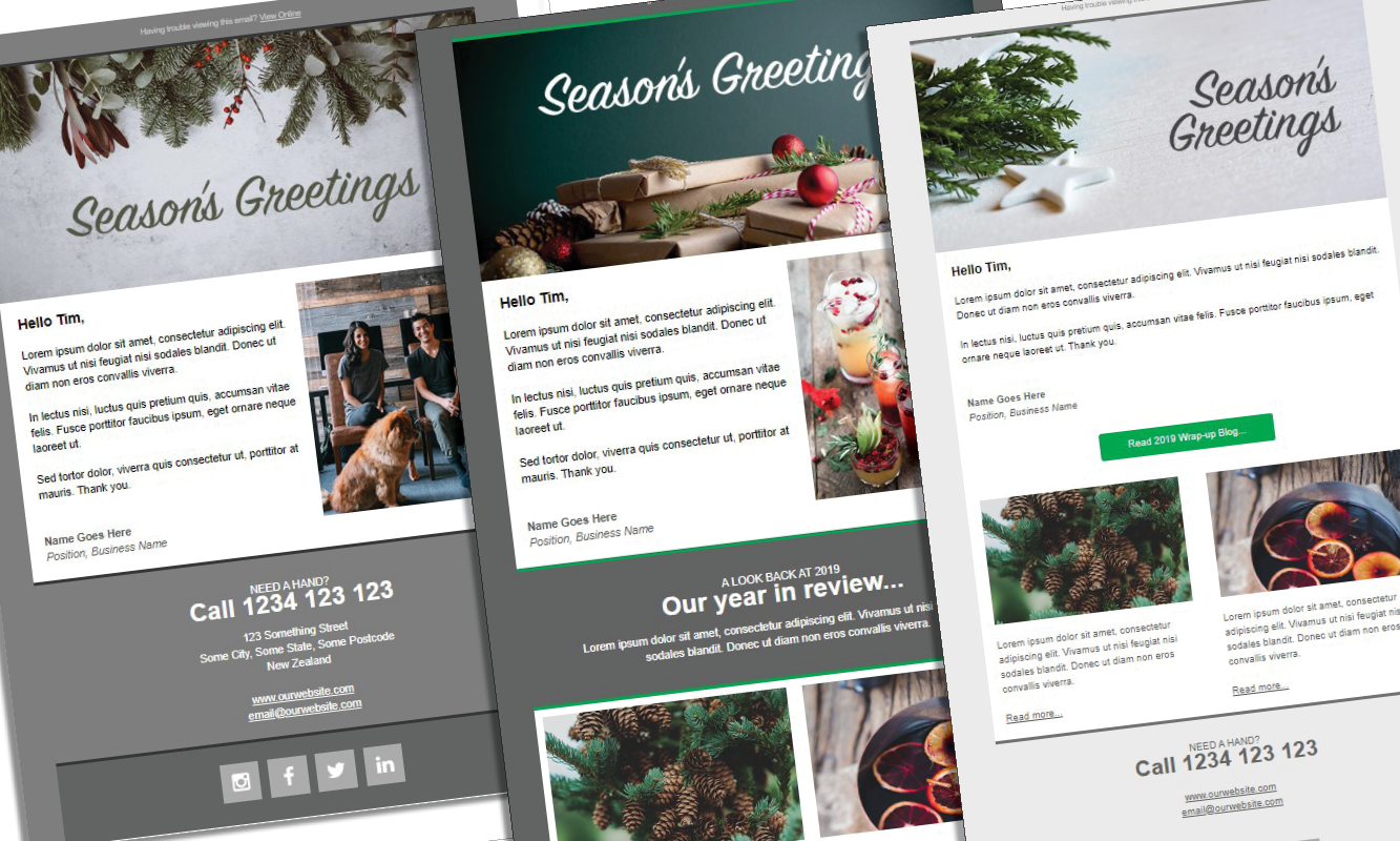 Our Gift to You – New Christmas Templates