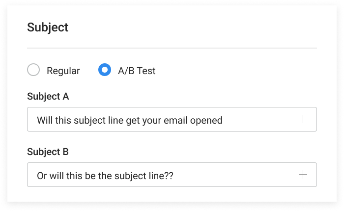 A/B test your subject lines