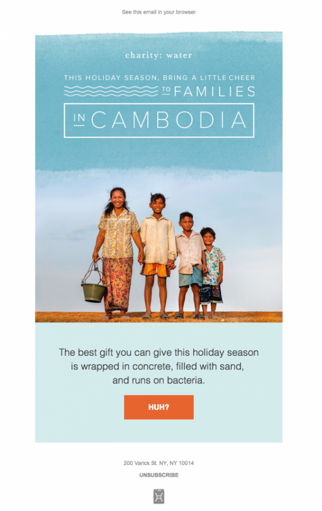 Nonprofit email example