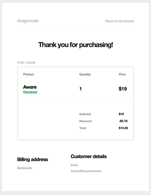 Example of an Automated Confirmation Email