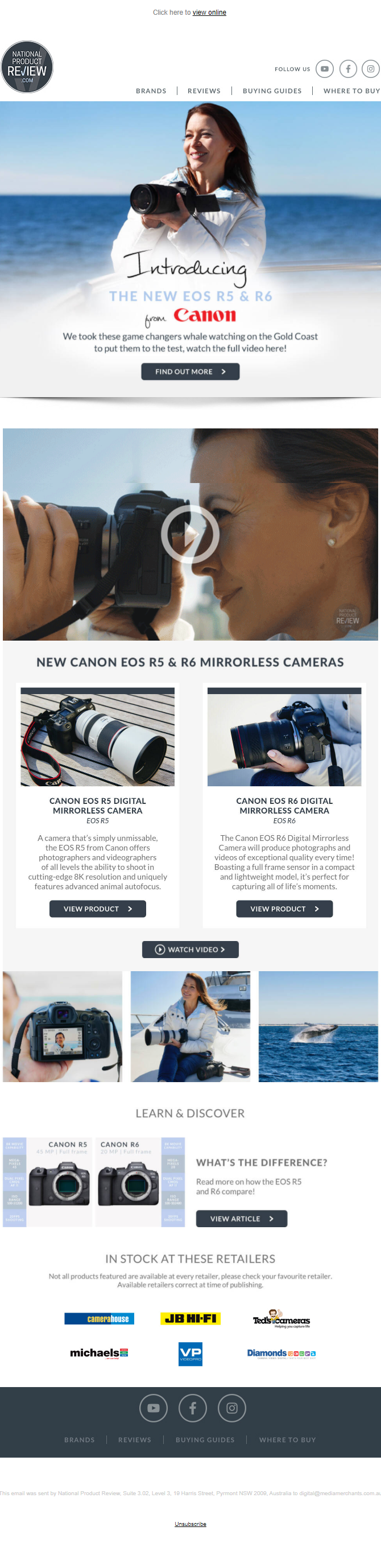 Canon Campaign, National Product Review by Media Merchants