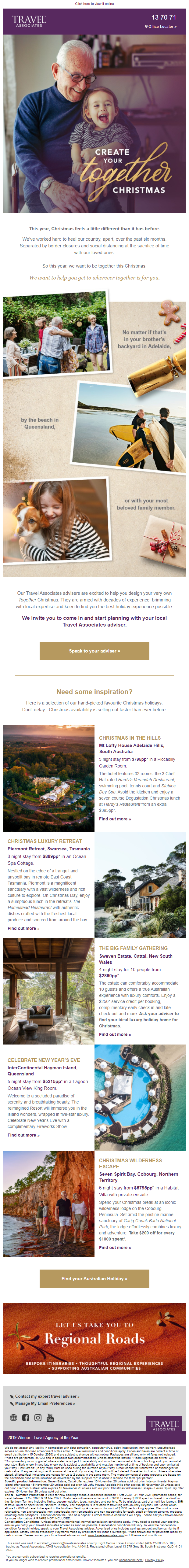 Create Your Together Christmas by Travel Associates