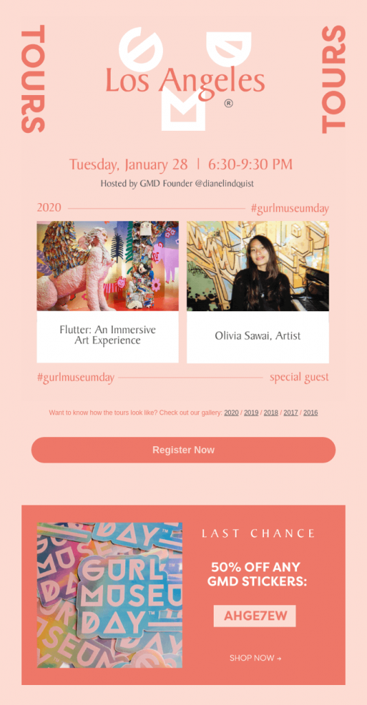 Example of beautiful event invitation email