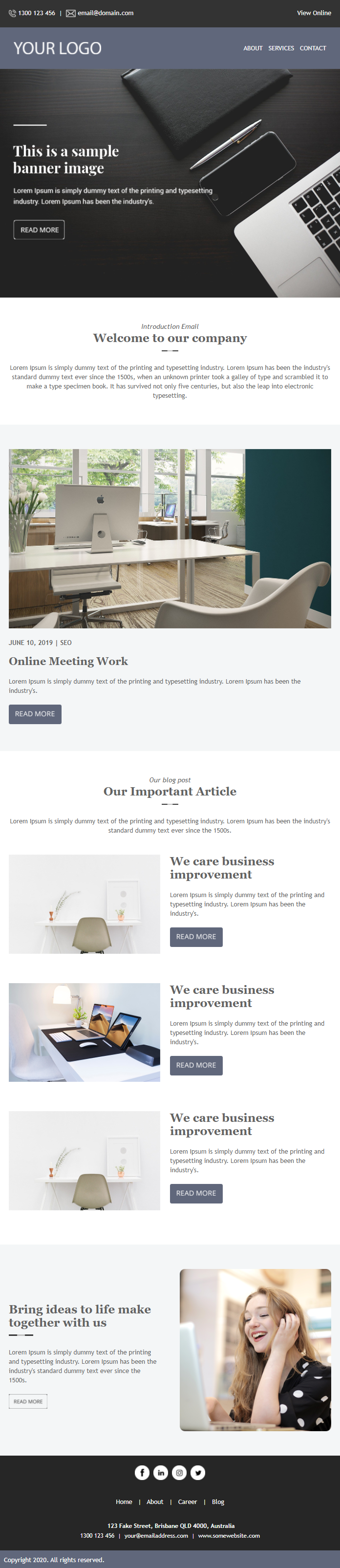 Newsletter Template for Curated Content