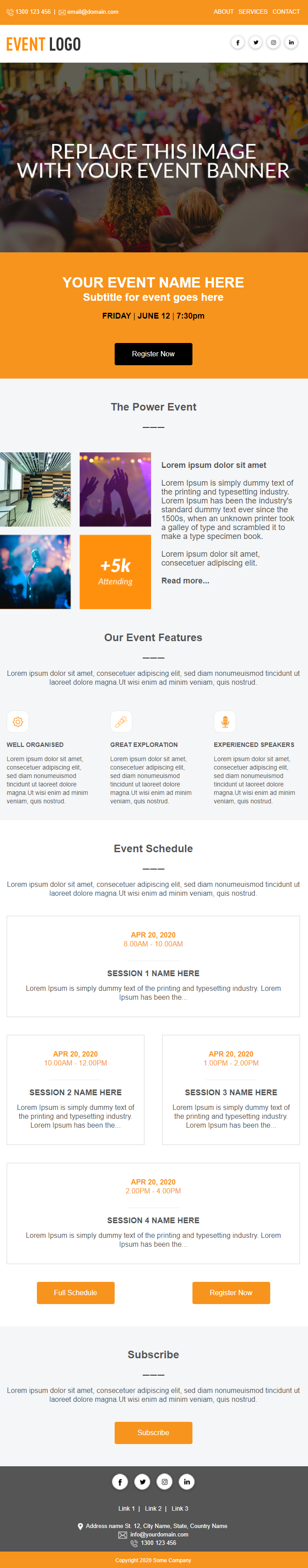 Event Invitation Email Template #1