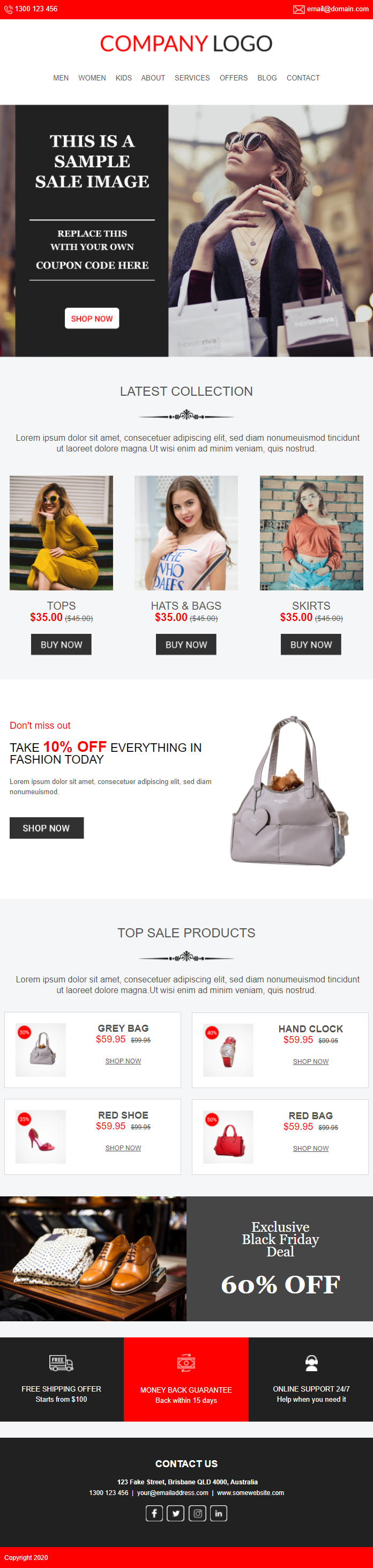 Ecommerce Email Template #1